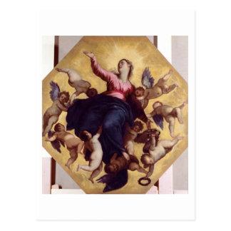 Carte Postale Madonna a porté par des anges (le fresque de