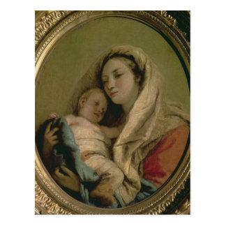 Carte Postale Madonna avec l'enfant de sommeil, 1780s