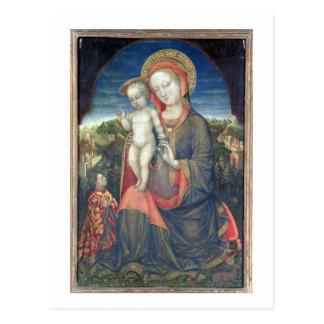 Carte Postale Madonna de l'humilité adoré par Leonello d'Este