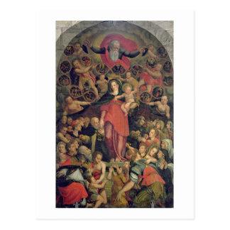 Carte Postale Madonna du chapelet, c.1569 (huile sur la toile)