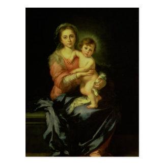 Carte Postale Madonna et enfant, après 1638