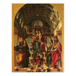 Carte Postale Madonna et enfant avec des saints, 1499