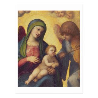 Carte Postale Madonna et enfant avec les anges c.1510-15 (huile