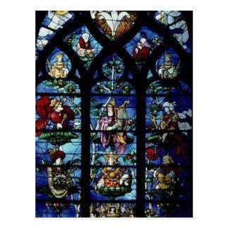 Carte Postale Madonna et enfant avec les anges et le reflec de