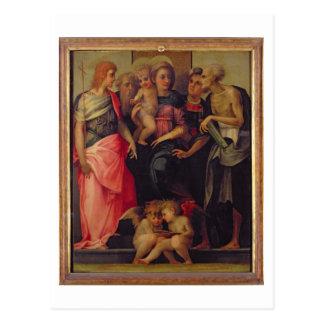 Carte Postale Madonna et enfant avec les saints, c.1518 (huile