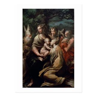 Carte Postale Madonna et enfant avec les saints, c.1529 (huile