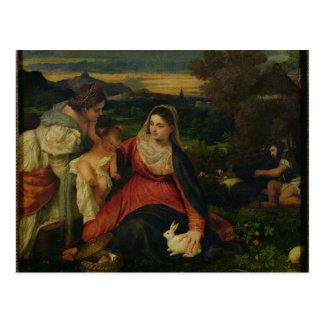 Carte Postale Madonna et enfant avec St Catherine C. 1530