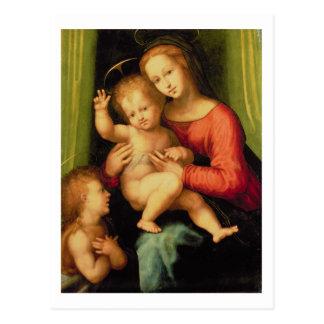 Carte Postale Madonna et enfant avec St John