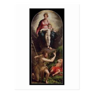 Carte Postale Madonna et enfant avec St John et St Jerome, 15
