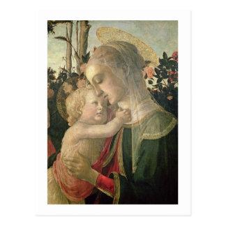 Carte Postale Madonna et enfant avec St John le baptiste, detai