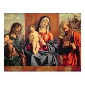 Carte Postale Madonna et enfant avec St John le baptiste et St