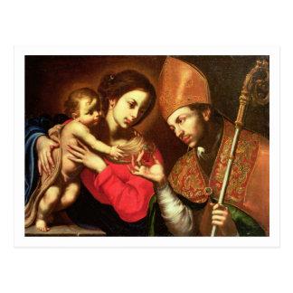 Carte Postale Madonna et enfant avec St Zenobius