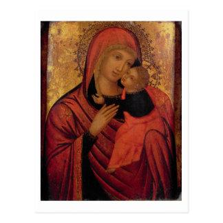 Carte Postale Madonna et enfant, c.1650 (panneau)