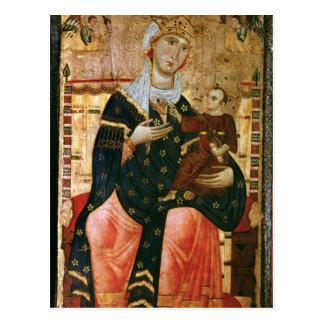 Carte Postale Madonna et enfant couronnés, c.1260