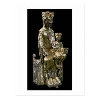 Carte Postale Madonna et enfant couronnés, statuette, Français,