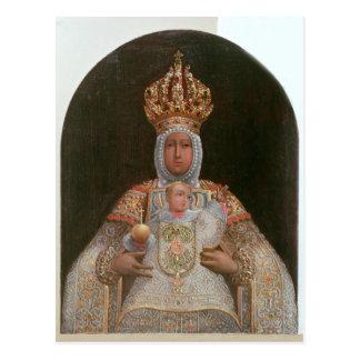 Carte Postale Madonna et enfant, école de Cusco