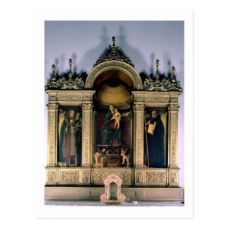 Carte Postale Madonna et enfant et saints (retable de triptyque)