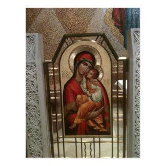 Carte Postale Madonna et enfant ; Vierge Marie
