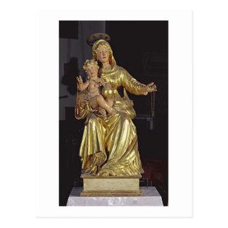Carte Postale Madonna et enfant, XVIIème siècle (bois doré)