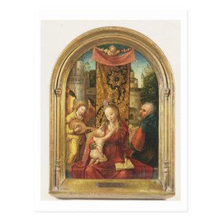 Carte Postale Madonna et l'enfant couronnés