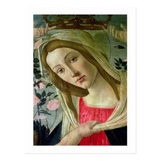 Carte Postale Madonna et l'enfant ont couronné par les anges,