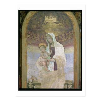 Carte Postale Madonna et l'enfant, un détail du tabernacl