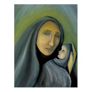 Carte Postale Madonna et Noël religieux de Mary Jésus d'enfant
