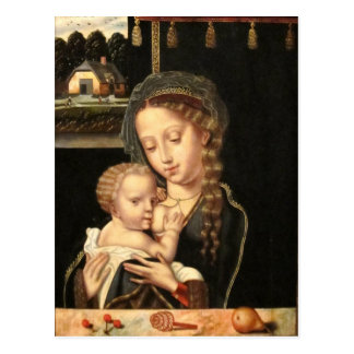Carte Postale Madonna et soins d'enfant