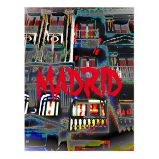 Carte Postale Madrid le soir dans le Grand Par l'intermédiaire