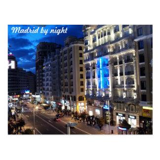 Carte Postale Madrid par nuit