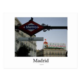 Carte Postale Madrid, Porte du Soleil