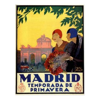 Carte Postale Madrid Temporada de Primavera - affiche vintage