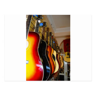Carte Postale Magasin de guitare