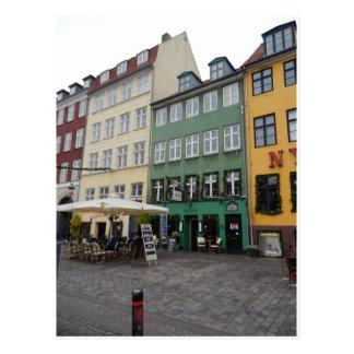 Carte Postale Magasins et restaurants, Nyhaven, Copenhague