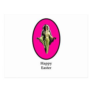Carte Postale Magenta heureux de Cantorbéry d'image de Pâques le