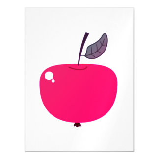 Carte postale magnétique avec la pomme mignonne