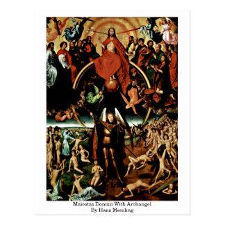 Carte Postale Maiestas Domini avec Arkhangel par Hans Memling