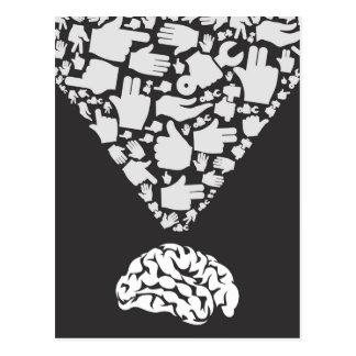 Carte Postale Main de cerveau