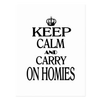 Carte Postale Maintenez calme et continuez Homies