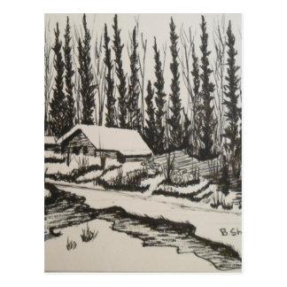 Carte Postale Maison veneze d'écoulement doucement