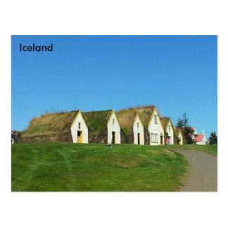 Carte Postale Maisons de gazon dans Glaumbær, Islande