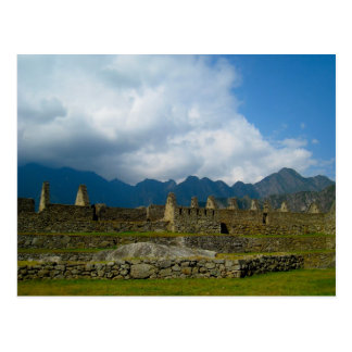 Carte Postale Maisons majestueuses de Macchu Picchu