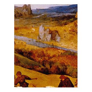 Carte Postale maîtres d'Autumn', Pieter Brueghel_Dutch