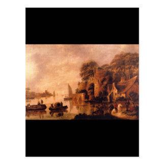 Carte Postale maîtres de Landscape', janv. Miense_Dutch