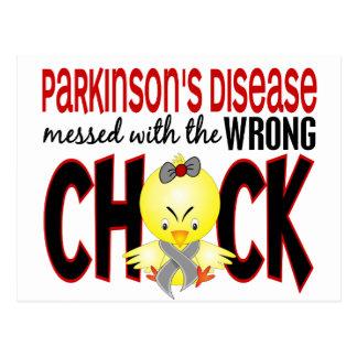 Carte Postale :maladie de Parkinson sali avec le poussin faux