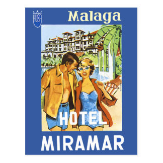 Carte Postale Malaga - hôtel Miramar