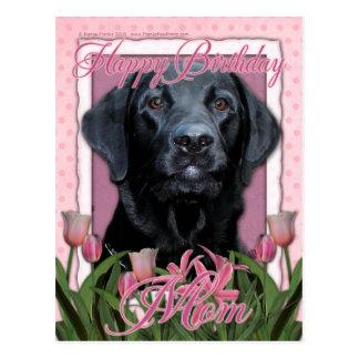 Carte Postale Maman de joyeux anniversaire - Labrador - noir -