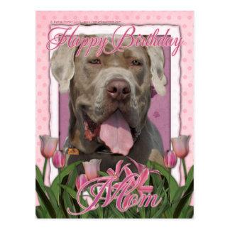 Carte Postale Maman de joyeux anniversaire - mastiff Neopolitan