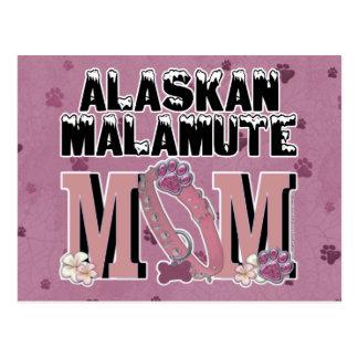 Carte Postale MAMAN de Malamute d'Alaska