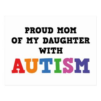 Carte Postale Maman fière de ma fille avec l'autisme